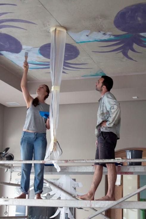 Deckenmalerei von Charlott Weise und Anton Schön