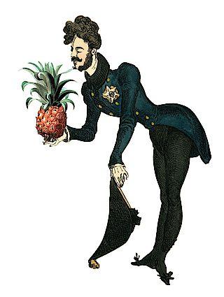 Fürst Pückler mit Ananas